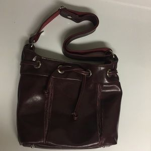 Crystalyn Kae Burgundy Footed Shoulder Bag Purse